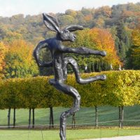 Sculpture in the gardens at Chatsworth