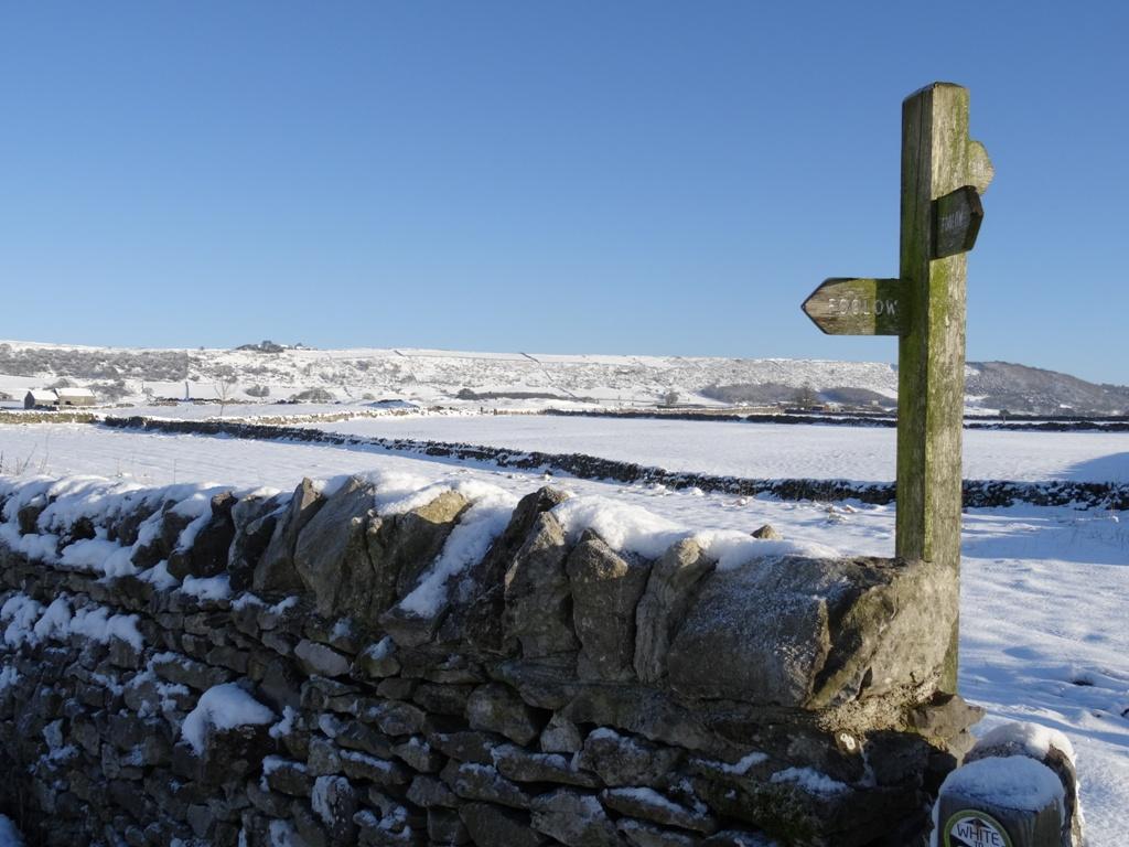 Snowy view near Foolow