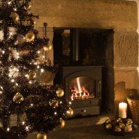 Fire and Christmas tree