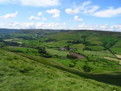 Looking towards Edale from Lose Hill