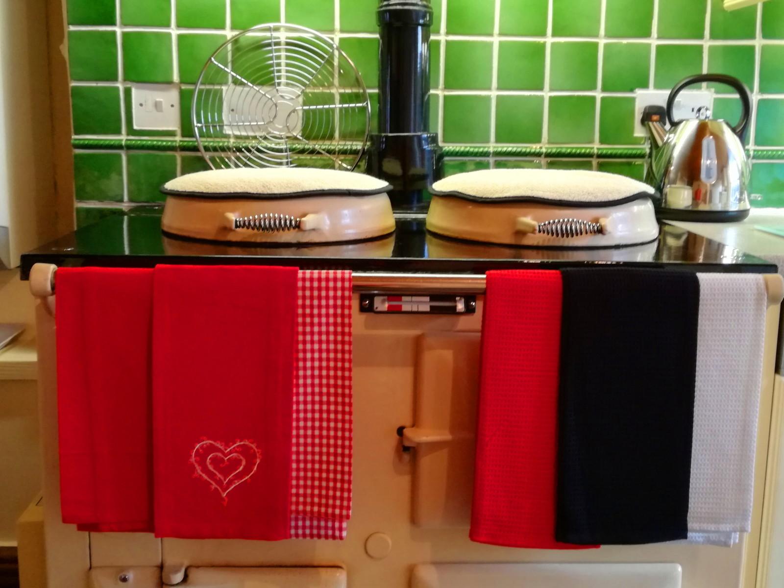 The wonderfully warm AGA stove