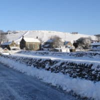 Litton Edge in the snow