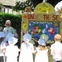 2017 Blessing the children's well dressing