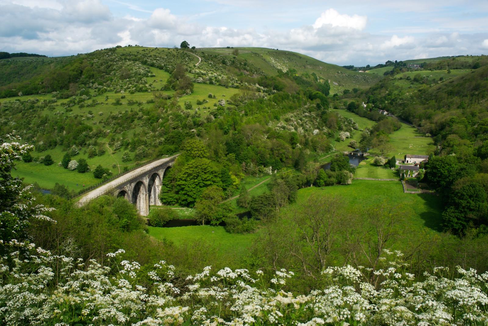 Monsal Head viaduct on the Monsal Trail